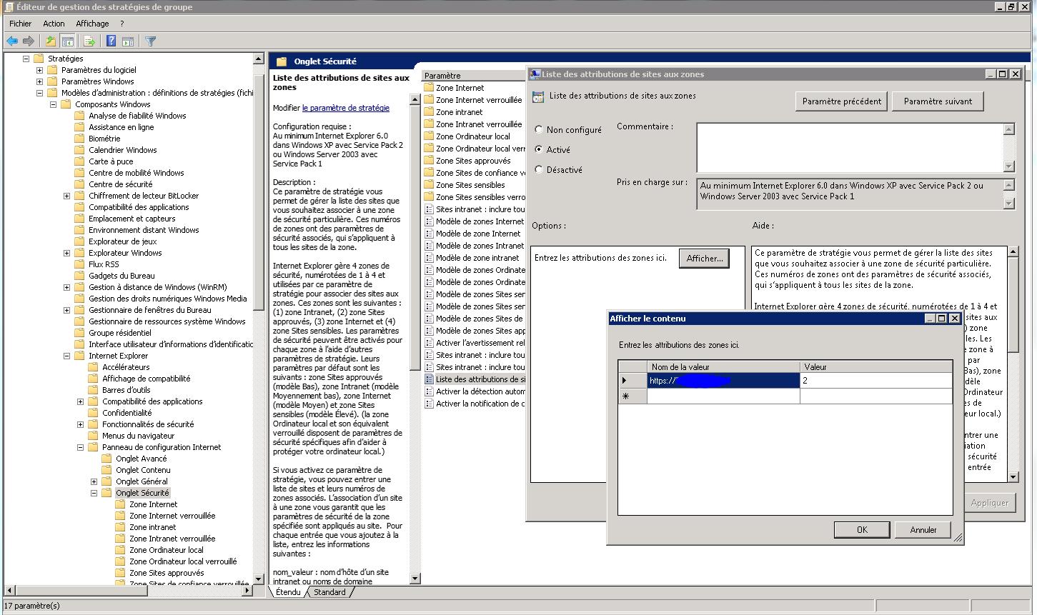Modifier les permissions des sites dans IE et Mozilla Firefox